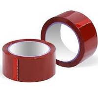 Скотч упаковочный красный 90м