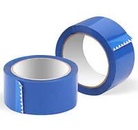Скотч упаковочный синий 90м