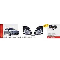 Фары доп.модель Toyota Corolla 2010-/TY-422C-W/эл.проводка