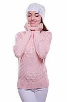 Вязаный теплый свитер с узором