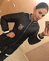 Куртка демисезонная «Dior» (пудра,чёрный,белый)