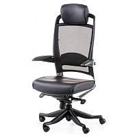 Офисное кресло FULKRUM BLACK LEATHER, BLACK MESH