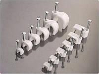Клипса для плоского кабеля 4мм белая (100 шт)