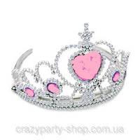 Карнавальная корона с розовым камнем принцессы