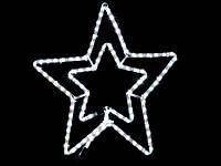 Гирлянда MOTIF Star белая, провод прозрачный