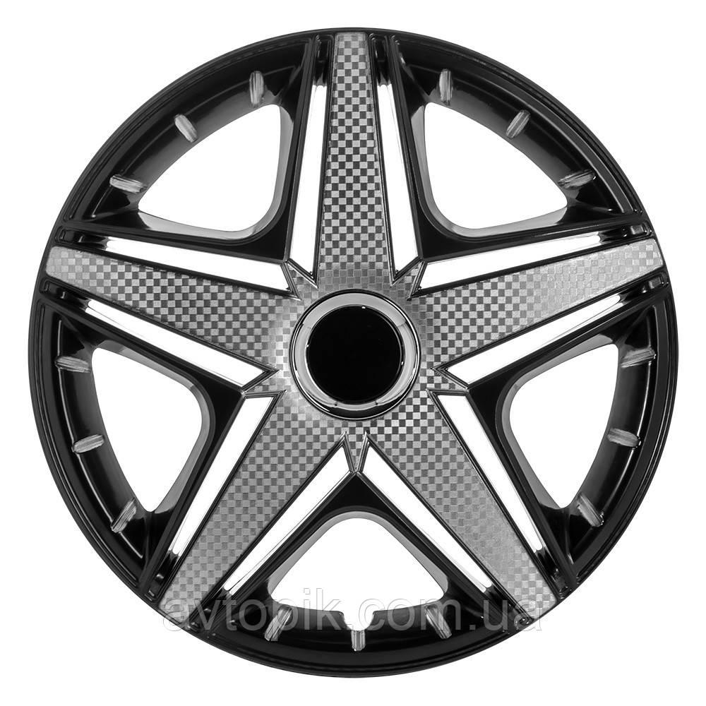 Колпаки колесные NHL Super Black PRO Карбон R14 R-3669