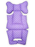 Матрасик-вкладыш в коляску Фиолетовый горох
