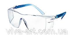 Окуляри захисні blue c покриттям від запотівання, регулювання дужок, модель 503.00.70.11, Univet (Італія)