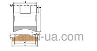 Фреза для изготовления радиуса «Блок-хауса»   H=90 ; h = 10;  R = 106         140х40(50)х96х4