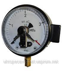 Манометр электроконтактный сигнализирующий МТ-4С, фото 2