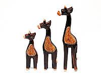 Фигурки деревянные Жирафы набор 3 шт
