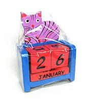 Календарь из дерева Кот