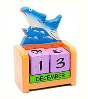 Календарь настольный деревянный Рыба