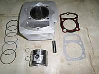 Цилиндр + поршень zs150j мотоцикл 150куб.см.( 4T CB145  61.0 p-15. h-69) (цепь)