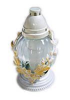 """Лампада стеклянная """"Квітка кругла з віночком"""" вел. 6 шт.. Ціна за 1 шт."""