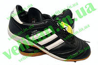 Обувь спорт.сороконожки подрост. (р.37) кожа AD OB-3590 COPA (подошва-PU, черн.-бел.)