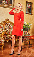 Приталенное платье с красивой спинкой