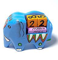 Календарь настольный деревянный Слон