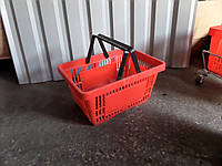 Торговая корзинка пластиковая для покупателей