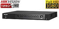 4-канальный Turbo HD видеорегистратор Hikvision DS-7204HQHI-SH, фото 1