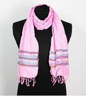 Шарф Индия хлопок розовый