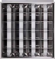 Светильник люминесцентный растровый встроенного типа e.lum.raster.flush.4.20.el с электронным ПРА, лампа Т8 4х