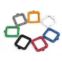 Рамка (кольцо) на объектив (алюминиевая, серебристая)  для GoPro 3