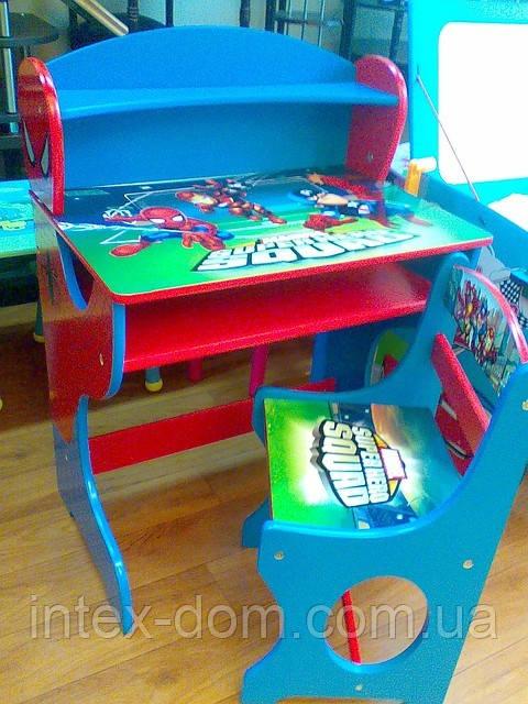 Набор детской мебели J002-3464 (детский столик и стульчики), дерево. КИЕВ