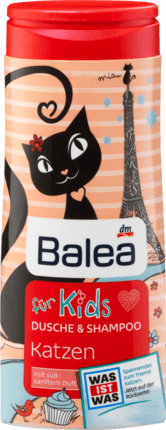 Дитячий шампунь та гель для душу Katzen (Котики) 2в1 300 ml