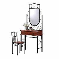 Стол туалетный с зеркалом+стул AT-215 Dr