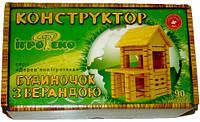 """Конструктор дерев. """"Будиночок з верандою"""" 102 дет. //"""