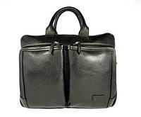 Деловая сумка, портфель кожаный мужской Bond Non 1085-281 черный, 39*30*12 см