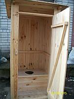 Туалетная кабина для дачи из шалевки с сидением