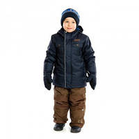 Зимний мембраный термокомплект NANO куртка + полукомбинезон, пинетки и рукавички, navy