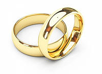 Золотые обручальные кольца Классика