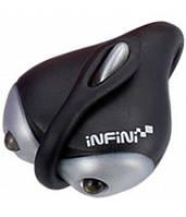 """Фара передняя INFINI I-201W черн. """"Amuse"""" 2 бел светодиода, 2 режима, в компл. батарейка"""