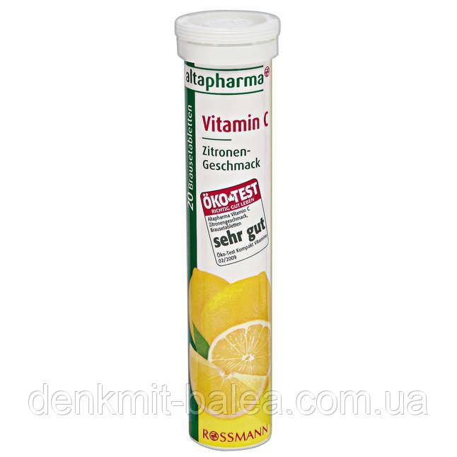 Биологически активные таблетки Витамин С для укрепления иммунитета Altapharma Vitamin C 20 шт