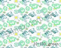 """Фланель набивная """" Слоники """" (Зеленый) ширина 2200мм"""