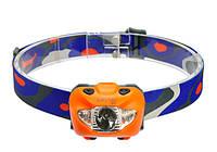Фонарь налобный Rayfall HP3A (Cree XP-G, 168 люмен, 5 режимов, 3хААА), оранжевый