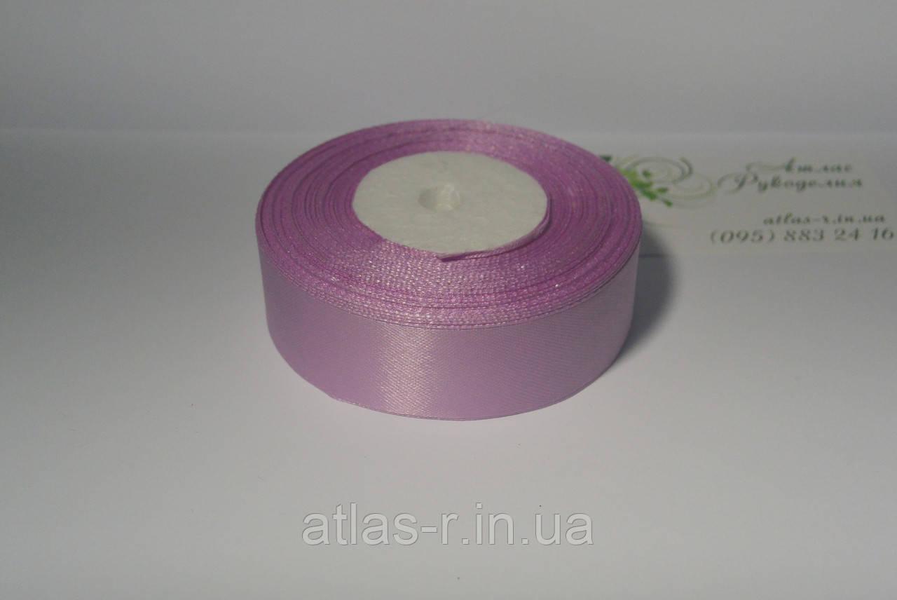 Светло-фиолетовая атласная лента 25мм 1м