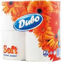 Бумага туалетная Диво(Обухов),2-слойная,белая 4шт/уп.