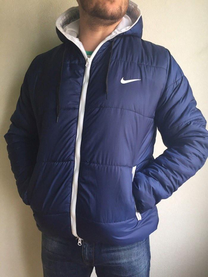 028bb6cd Зимняя мужская куртка Nike, короткая, цвет - синий, сезон - осень-зима