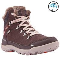 Ботинки женские, сапоги зимние Quechua ARPENAZ 500 HIGH WARM коричневые