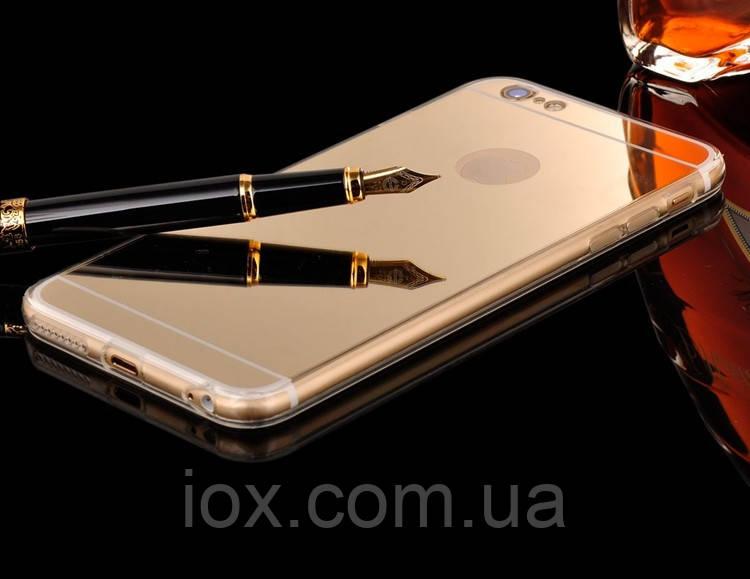 Зеркальный золотой чехол для Apple Iphone 7 Plus