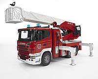 Игрушка Bruder Большая пожарная машина Scania R-series с лестницей М1:16 (03590), фото 1