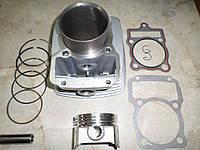 Цилиндр + поршень 4T CG250  v200-f2/v250-f2 250куб.см.  (67.0, p-16) (штанга)