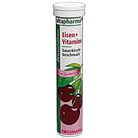 Биологически активные таблетки Железо + Витамин С для повышения гемоглобина Altapharma Eisen + Vitamin C 20 шт