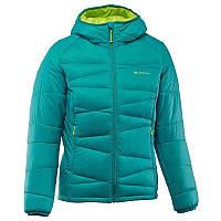 Куртка женская пуховая теплая Quechua X-LIGHT 2 бирюзовая