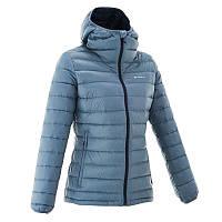 Куртка женская пуховая теплая Quechua FORCLAZ 300 синяя