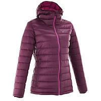 Куртка женская пуховая теплая Quechua FORCLAZ 300 бордовая